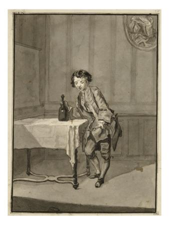 augustin-de-saint-aubin-album-factice-jeune-garcon-tenant-de-la-main-droite-une-bouteille-posee-sur-une-table